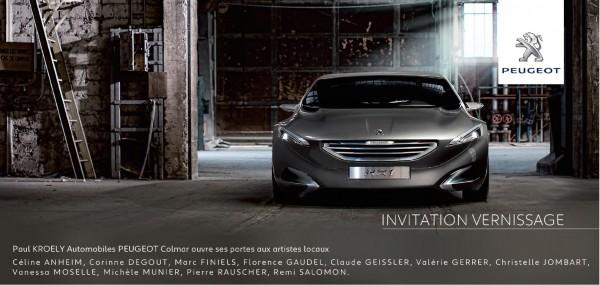 La concession Peugeot de Colmar accueille les oeuvres de Valérie Gerrer